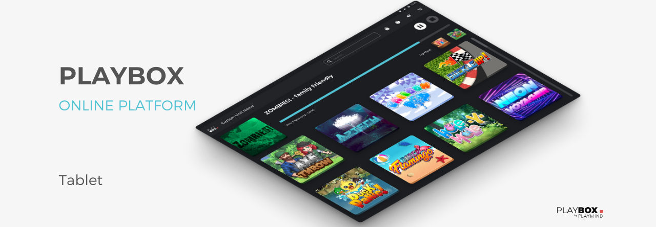 An additional tool for a better customer experience with the Playbox: the tablet