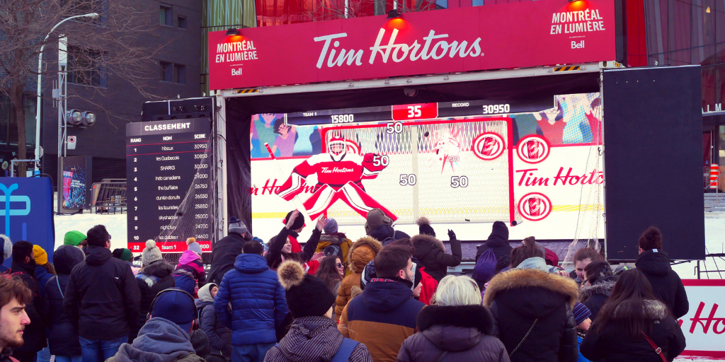 Tim Hortons brand activation - Playbox