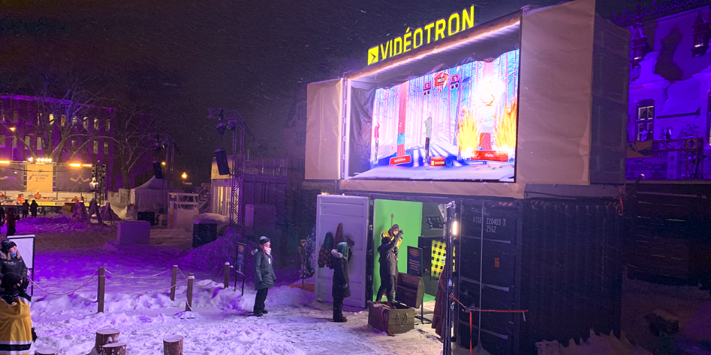 Videotron brand activation - Playbox