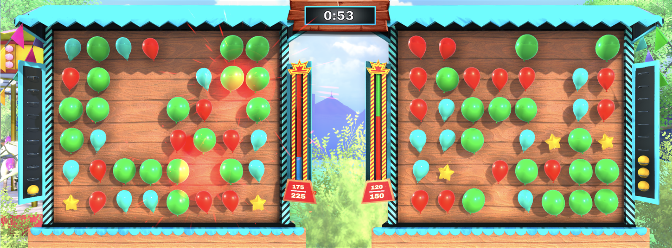 Balloon pop gameplay picture 2 players