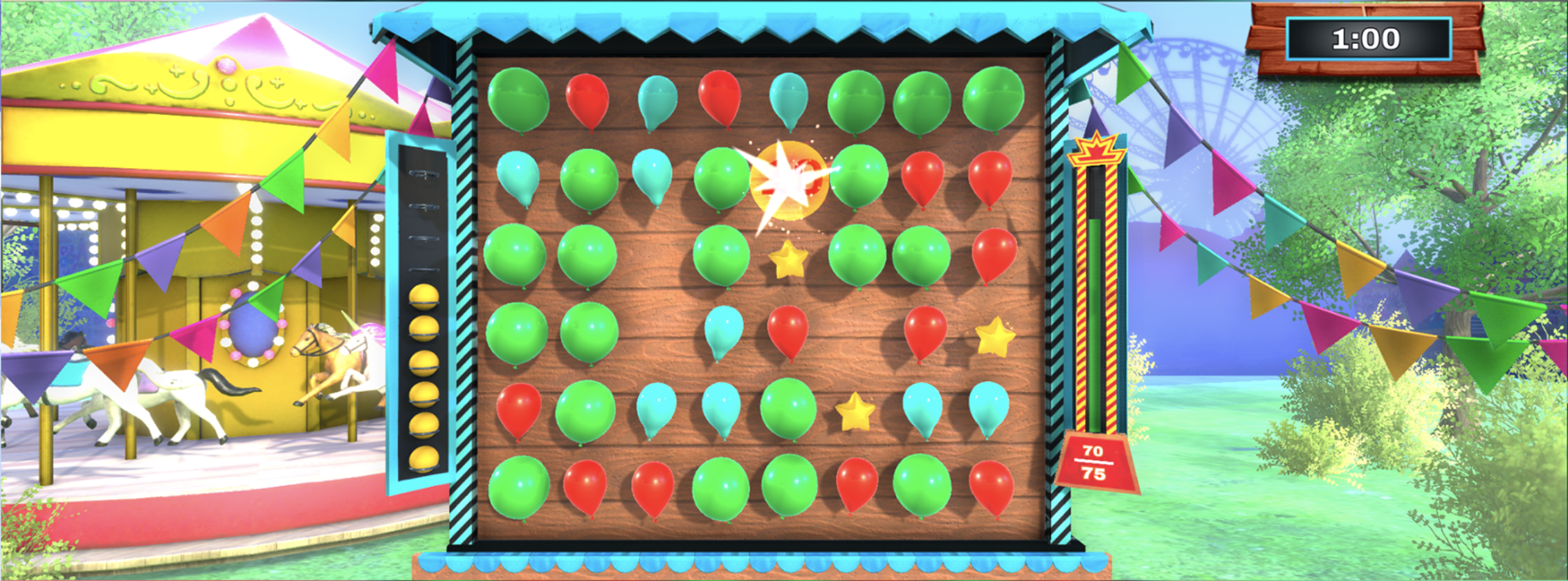 Balloon pop gameplay picture solo